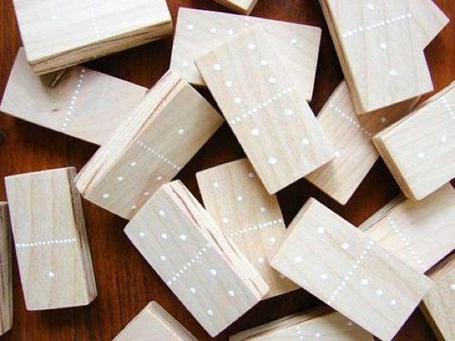 DIY Wood Games - Dominoes