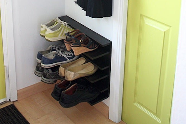 Diy shoe rack ideas 5 you can make bob vila diy shoe rack floating solutioingenieria Choice Image
