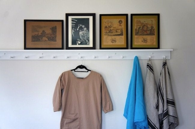 Small Bedroom Ideas - Peg Rail