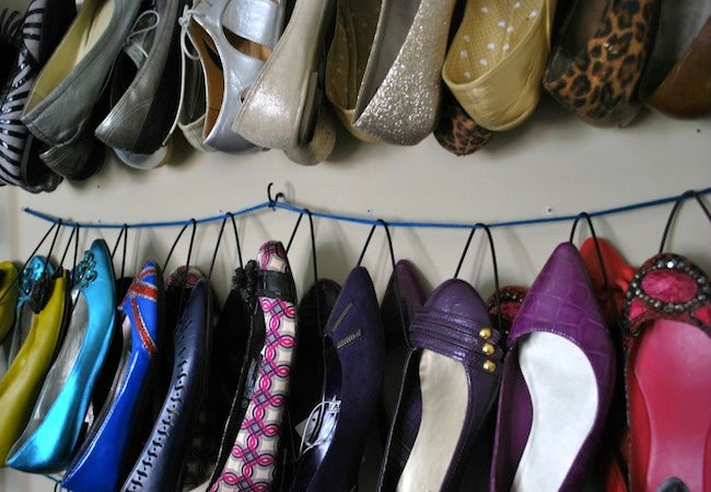 Diy shoe rack ideas 5 you can make bob vila diy shoe rack hanger solutioingenieria Choice Image