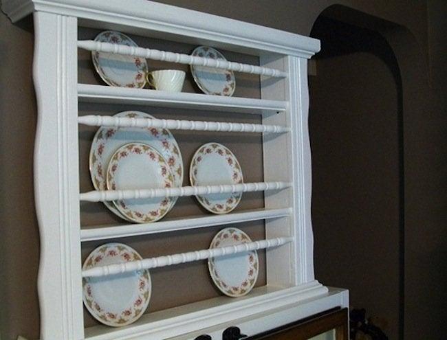 Repurposed Crib - Plate Rack