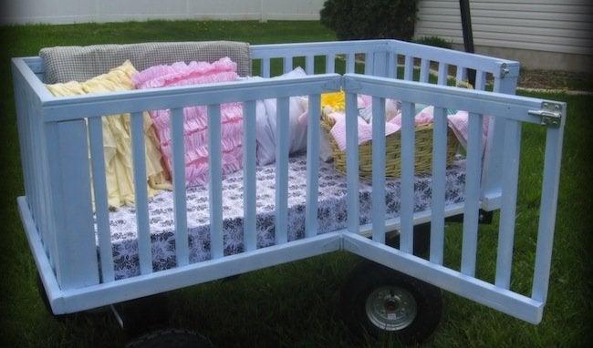 Repurposed Crib - Wagon