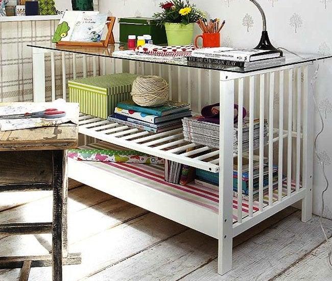 Repurposed Crib - Side Table