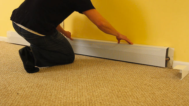 how to replace old baseboard heater covers