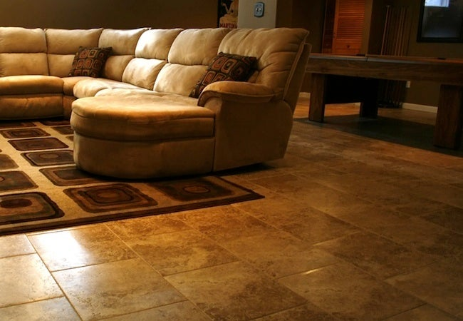 Basement flooring 101 bob vila for Best carpet for basements