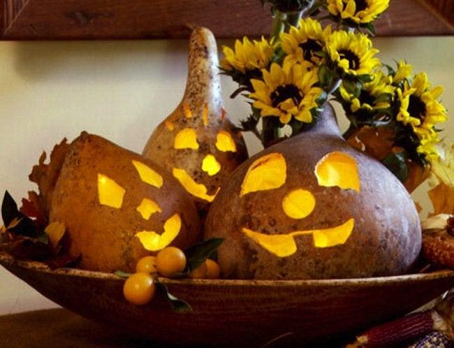 Gourd Crafts - Jack o Lantern