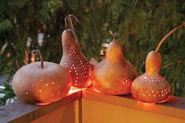 Gourd Crafts - Lanterns
