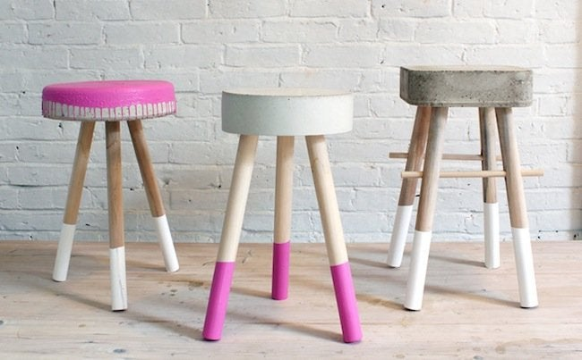 DIY Stool - Concrete