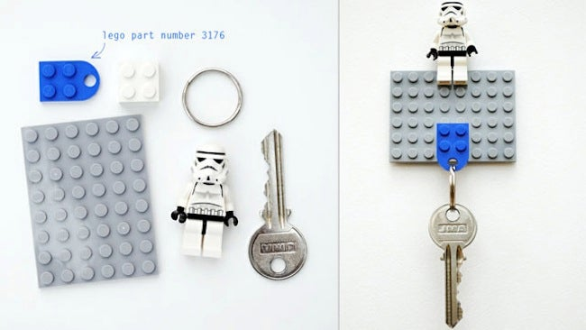 Repurpose Legos - Key Holder