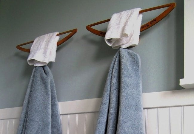 DIY Hanger Project - Towel Rack