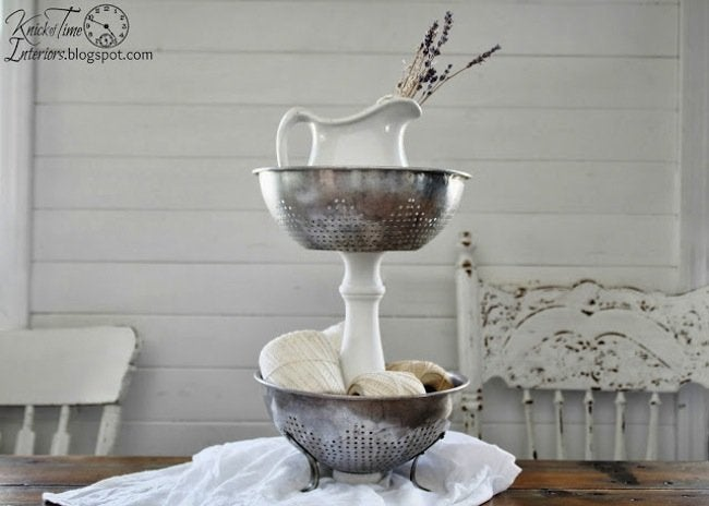 Repurpose Colanders - Tiered Stand