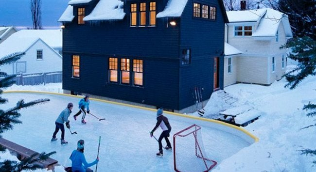 - Backyard Ice Rink