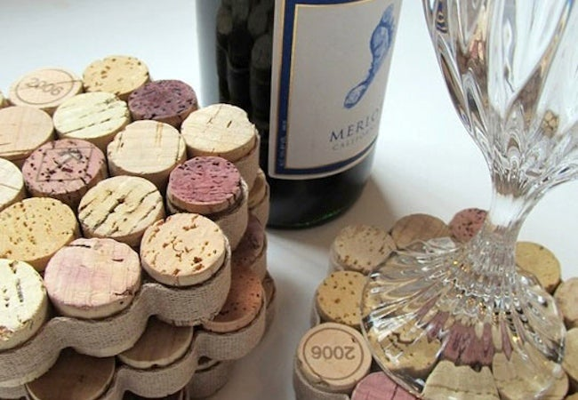 Wine Cork Projects - Coasters