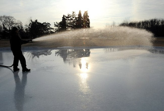 Backyard Ice Rink - Filling