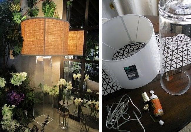 DIY Floor Lamp - Glass
