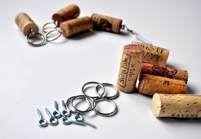Wine Cork Projects - Keychain