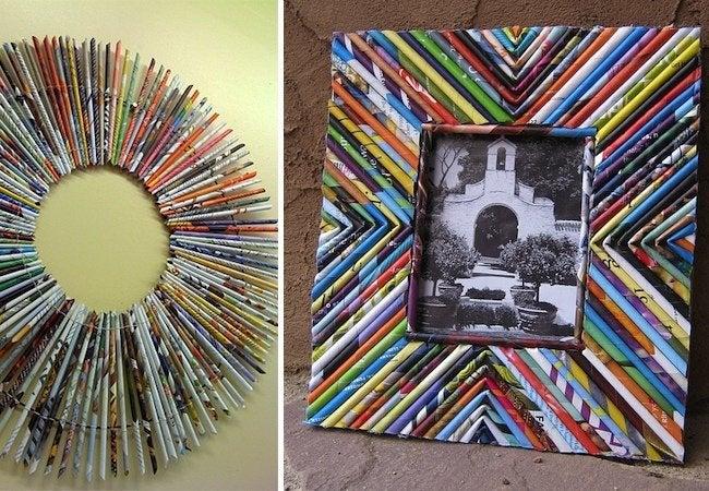 DIY Picture Frame - Paper Reeds