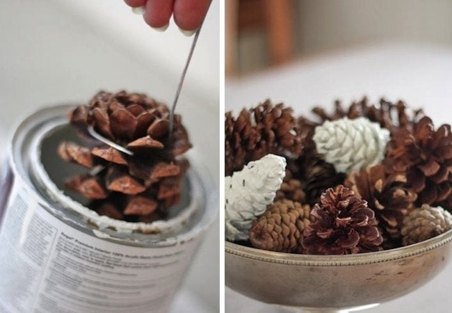 Holiday Crafts for Kids - Paint Pine Cones