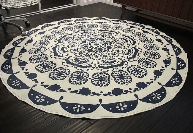 DIY Rug - Tablecloth