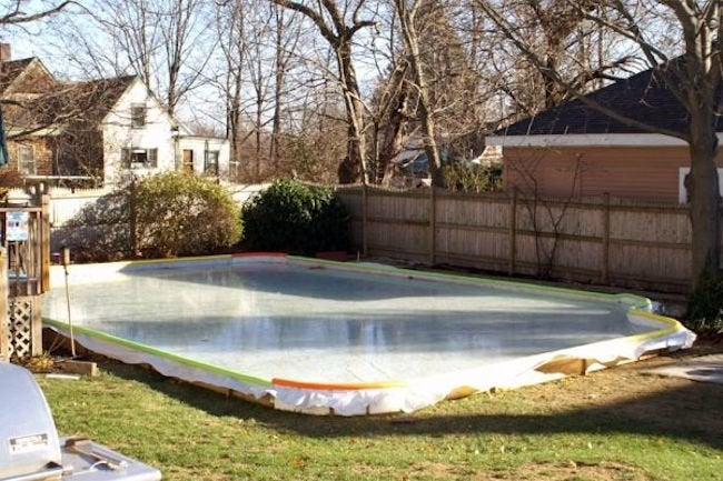 Backyard Ice Rink - Tarp