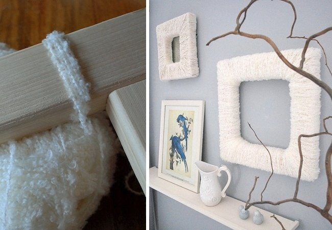 DIY Picture Frame - Yarn