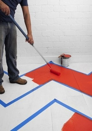 Painted Floors - Taped