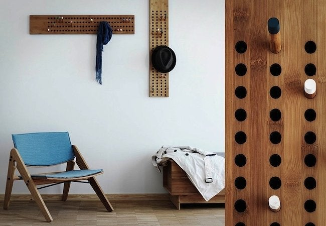 Uses for Dowels - Coat Rack