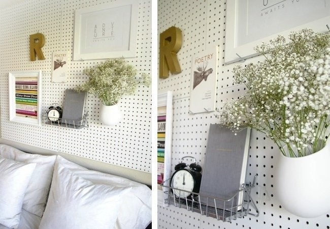 DIY Pegboard Projects - Headboard