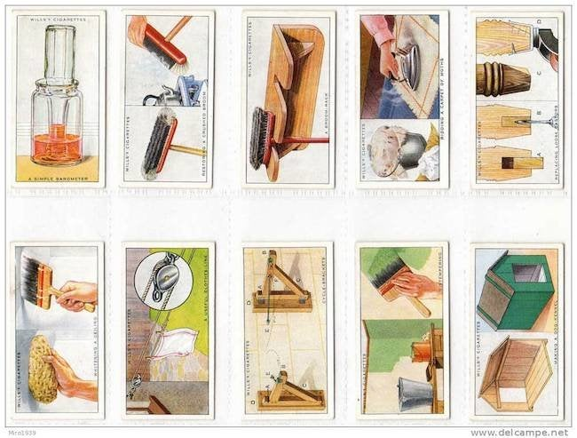 Household Hints Cigarette Trading Cards