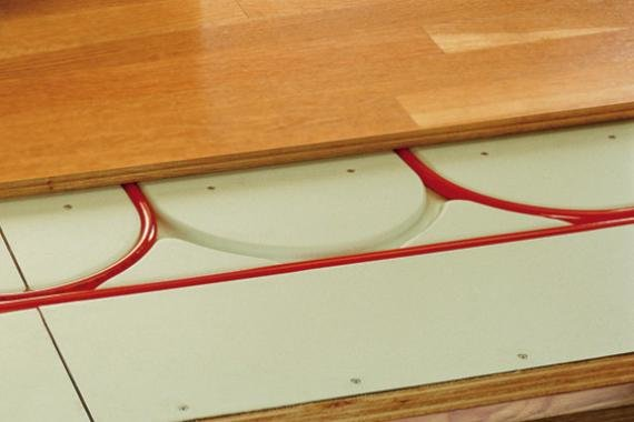 Warmboard radiant heat
