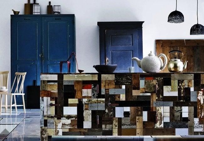 DIY Kitchen Island - Reclaimed Wood