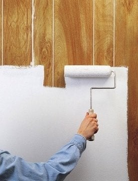 How To Paint Wood Paneling Roller
