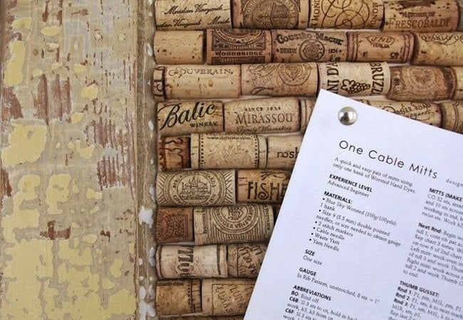DIY Bulletin Board - Wine Corks