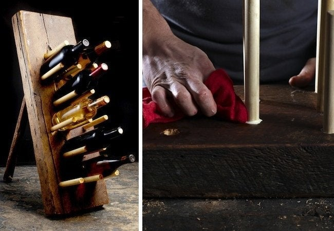 Uses for Dowels - Wine Rack