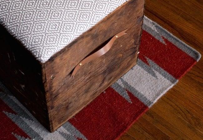 DIY Ottoman - Crate