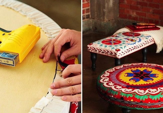 DIY Ottoman - Fabric