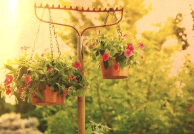 Repurposed Rake Projects - Hanging Plant