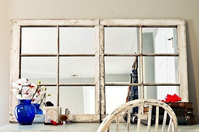 Diy Mirror Frame Projects Repurposed Window