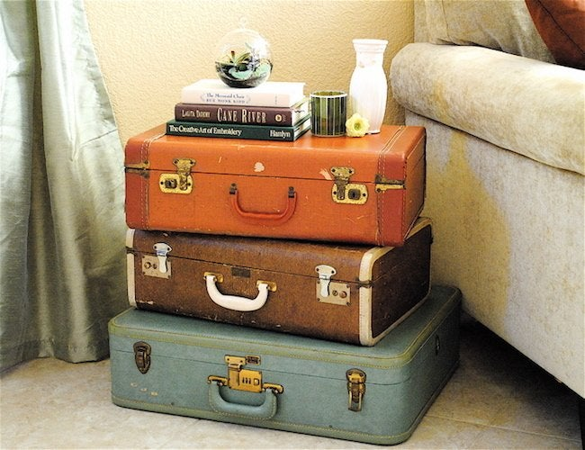 DIY Nightstand - Suitcases