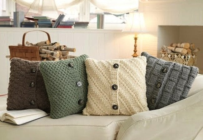 Recycled Sweaters - Throw Pillow