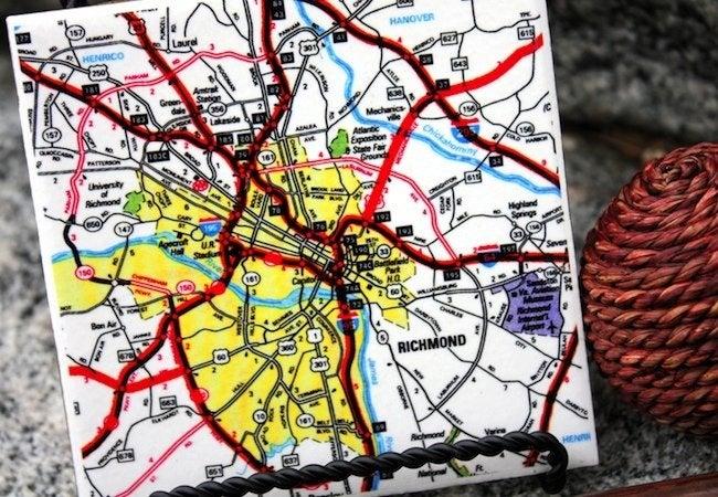 DIY Coasters - Map