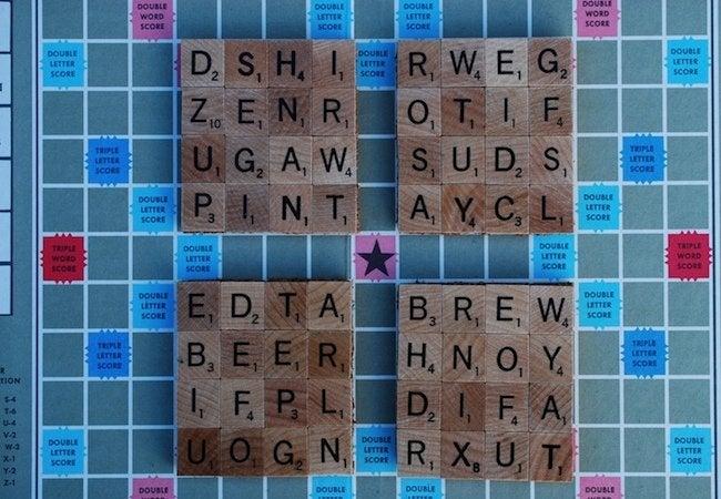 DIY Coasters - Scrabble Tiles
