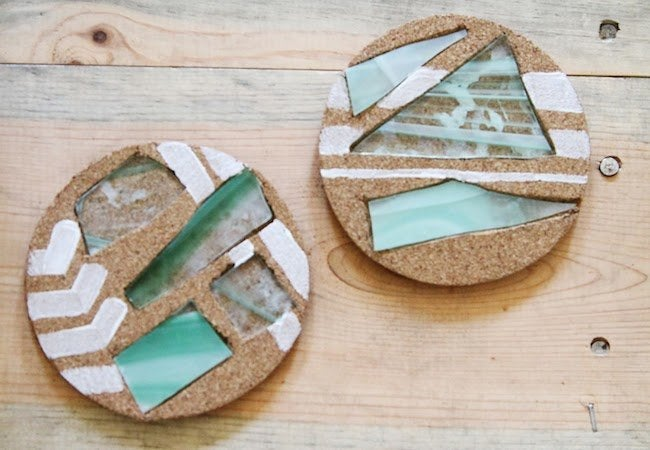 DIY Coasters - Beach Glass