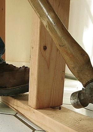 How To Build A Temporary Wall Studs