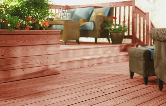 WeatherShield Red Brown Pressure-Treated Decking