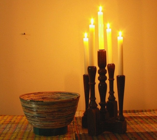 Baluster DIY Projects - Candelabra