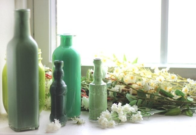 how to paint glass bottles - How To Paint Glass Bottle