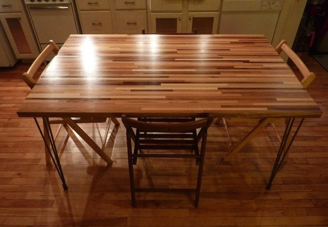 DIY Dining Table - Butcher Block