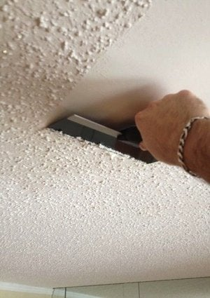 How to Remove a Popcorn Ceiling - Detail
