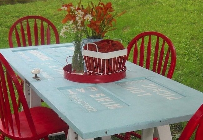 DIY Dining Table - Door